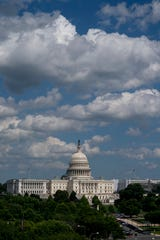 The Capitol seen from the roof of the Canadian Embassy in Washington.