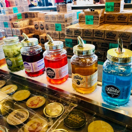 Ole Smoky Moonshine in Pigeon Forge comes in many flavors and colors.