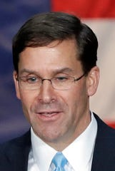Army Secretary Mark Esper is slated to take over as acting defense secretary at midnight on Sunday.