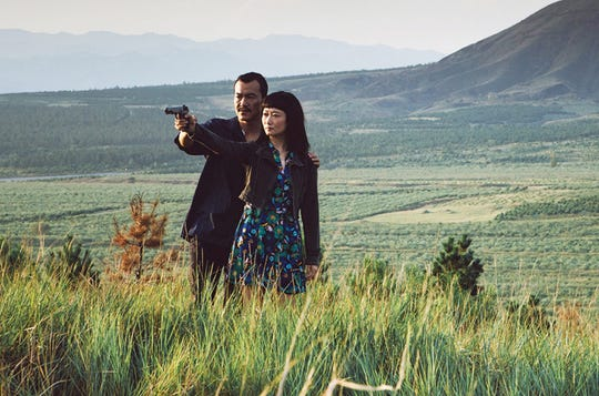 "Fan Liao, left, and Tao Zho star in ""Ash is Purest White,"" a film about low-grade gangster life in modern China."