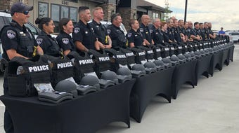 Landmark Homes and local sponsors raise funds to outfit officers with new gear.