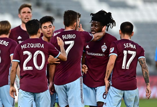 The Colorado Rapids play at 8 p.m. Saturday at Vancouver.