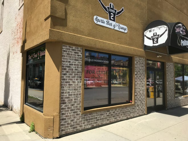 Cover 2 Sports Bar & Lounge, 201 N. Washington St., is closed and for lease in the wake of the owner's arrest in connection to a drug distribution operation in Brown County.