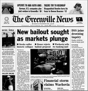 On Sept. 20, 2008, The Greenville News reported how markets had plunged 777 points the previous day -- a single day record at the time.