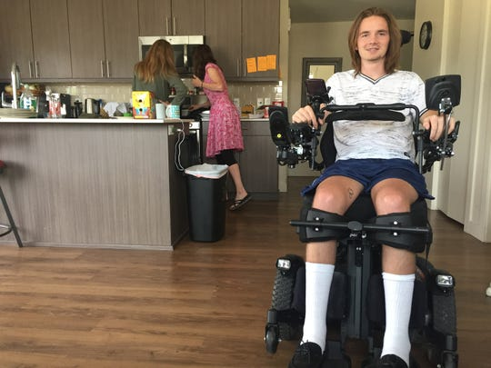 Jack Racicot says he holds on to the hope that someday he will walk again.