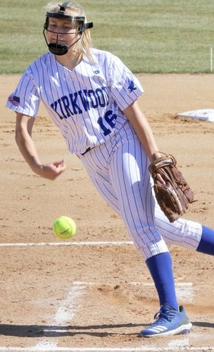 Former Great Falls High star Erin Hocker won 31 games and earned JUCO All-American honors this spring at Kirkwood Community College.