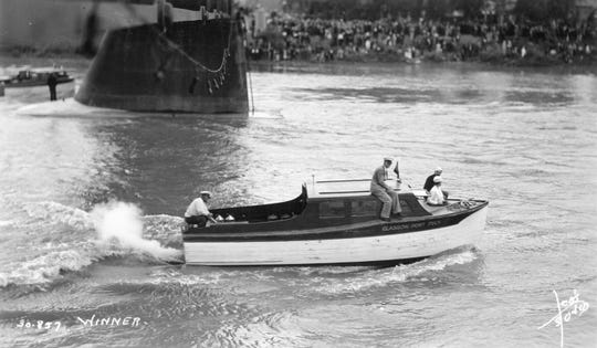 In 1937, four cruisers raced from St. Louis to Fort Benton to commemorate the steam boat era. The race, part of Steam Boat Days, attracted a crowd estimated at 18,000 to Fort Benton.