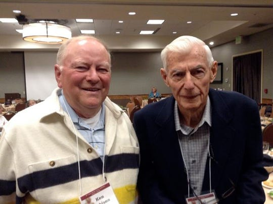 """Ken Robison, left, and Hank Armstrong are longtime friends and noted historians. Both have been honored as """"Montana Heritage Keepers"""" by the Board of Trustees of the Montana Historical Society."""