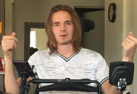 Jack Racicot vividly recalls the day of his snowboarding accident that left him a quadriplegic.