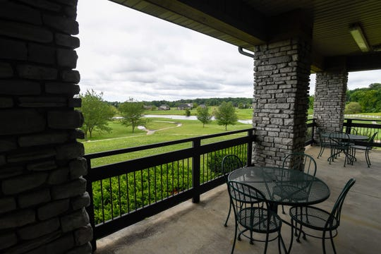 The view from the clubhouse at Henderson City's new Bridges Golf Course, formerly Players Club.
