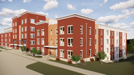 The Del Ray Ridge Apartments will be three stories offering 33 housing units -- 28 of which are aimed at affordability.