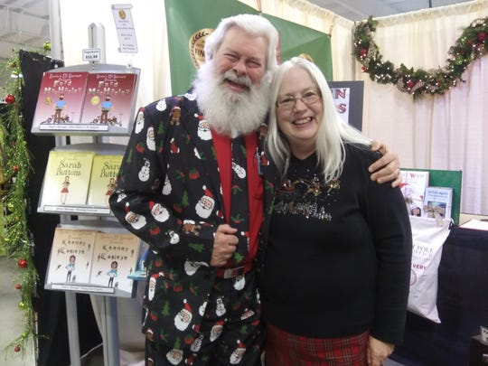 Joe and Mary Moore at a crafts show in Columbia, South Carolina in 2018.