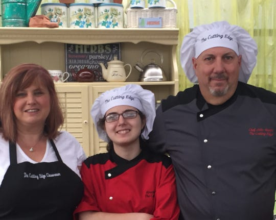 It's a family affair for the Alunnis at The Cutting Edge Classroom. Owners Janna and John run the business and 17-year-old Kirsten, center, helps mom and dad out part time.
