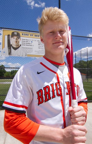 With 19 home runs, Zach Hopman approached the totals put up by Drew Henson during his Brighton baseball career.