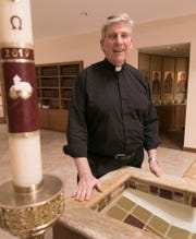 The Rev. David Howell, shown Friday, June 21, 2019 at Brighton's St. Mary Magdalen Church, is stepping down, moving to sacramental minister for St. Mark Parish in Goodrich.