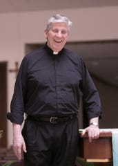 The Rev. David Howell is stepping down after decades at Brighton's St. Mary Magdalen Church. Shown at the Brighton church Friday, June 21, 2019, Fr. Howell will serve as sacramental minister in Goodrich.
