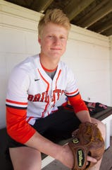 Brighton's Zach Hopman is the 2019 Livingston County baseball Player of the Year.
