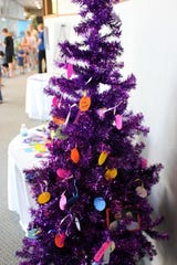 The cancer survivors' tree gives people a chance to add a decoration or name to the tree.