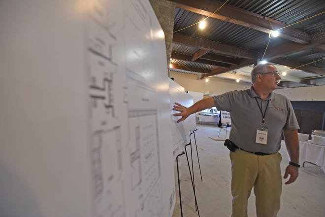 Fred Boll explains plans for the new location of the Little Buckeye Children's Museum in the Imagination District of Park Avenue West.