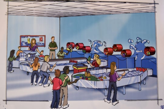 An artist's rendering of one of the attractions at the future Little Buckeye Children's Museum.