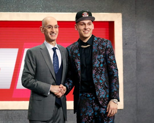 Former Whitnall High School standout Tyler Herro was picked at No. 13 by the Miami Heat on Thursday,