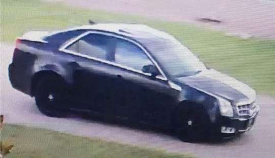 The suspect left the scene in an older model Cadillac CTS.