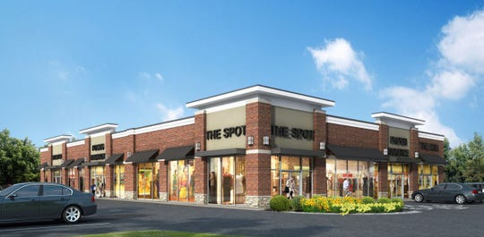 A rendering of the shops that will replace a gas station service center on Comly Road, Lincoln Park.