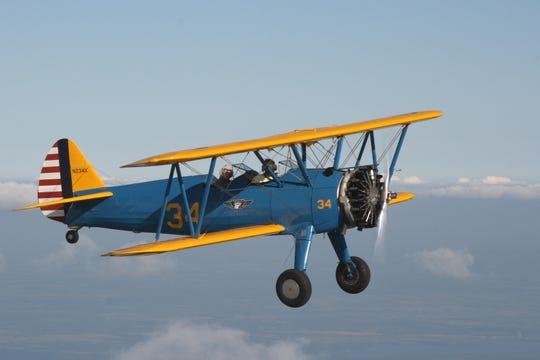 """The Boeing PT-13 was the primary flight trainer for all branches of the military during World War II. Officially named the Boeing Model 75, this plane is almost universally known as the """"Stearman."""""""