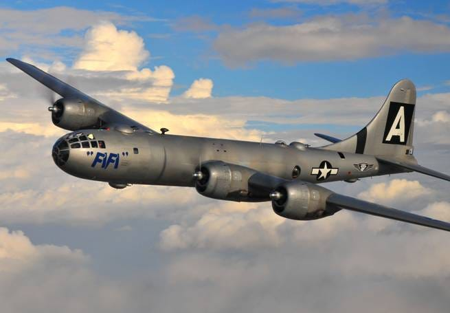 FIFI, a Boeing B-29 Superfortress, will land at Delaware County Regional Airport and be on tour from July 15-17. The planes can be toured on the ground or booked for a few flights during their time in the area.