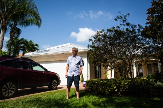 Marc Schnee at his home in Naples on Friday, June 21, 2019. Schnee, as well as other customers of Campbell Roofing, have accused Joshua Campbell of taking their deposits and not completing their roofs.