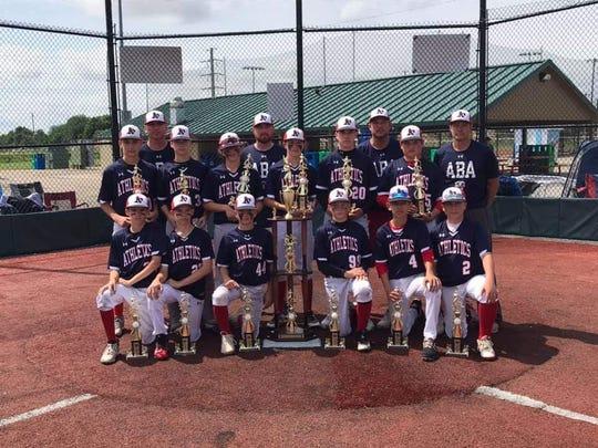 The 13U Athletics won the Nations Baseball state championship in Columbus.
