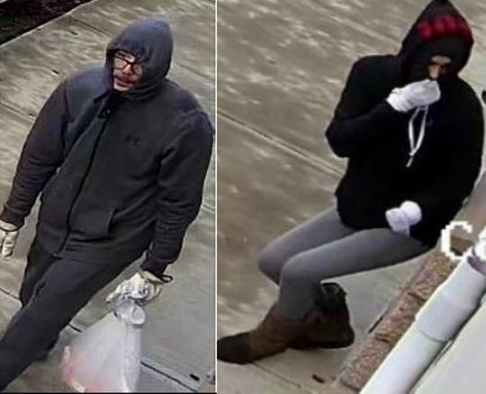Authorities released two surveillance photos as they searched for a couple suspected in many Little League burglaries through North Jersey.