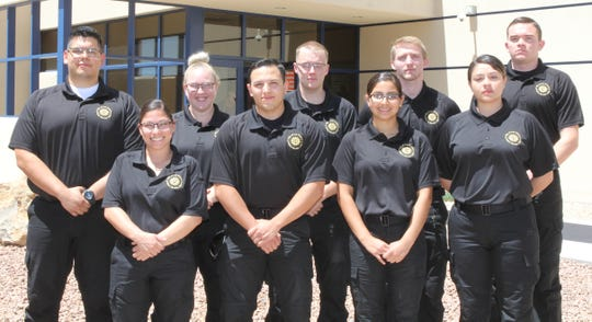 Graduating class from Police Service Aide Academy.