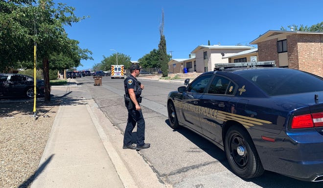 Las Cruces police investigate a reported shooting on the 2300 block of Lester Avenue on Friday, June 21, 2019.
