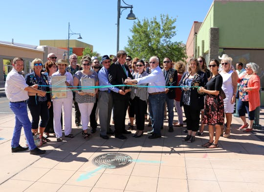 The City of Las Cruces along with other city organizations celebrated a ribbon cutting ceremony to mark the completion of downtown construction Thursday, June 20, 2019, on Main Street.