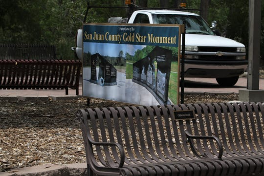 The San Juan County Gold Star Monument will be located in All Veterans Memorial Plaza in Berg Park.