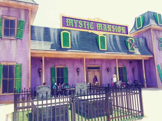 The newest ride at the Park at OWA in Foley is called Mystic Mansion, an interactive ride that lets you try your hand at ghost hunting.