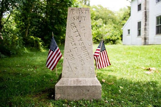 First Shot at Gettysburg marker.