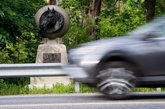 The 21st Pennsylvania Volunteer Cavalry monument.