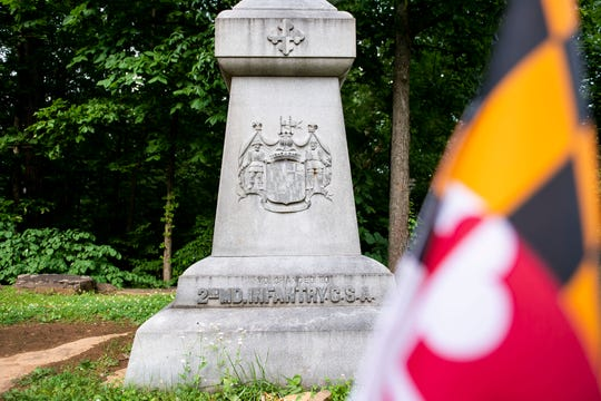Confederate 2nd Maryland Infantry monument (previously known as the 1st Maryland Infantry Battalion).