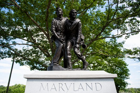 State of Maryland monument.