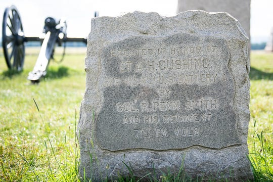 Monument to First Lieutenant Alonzo Cushing.