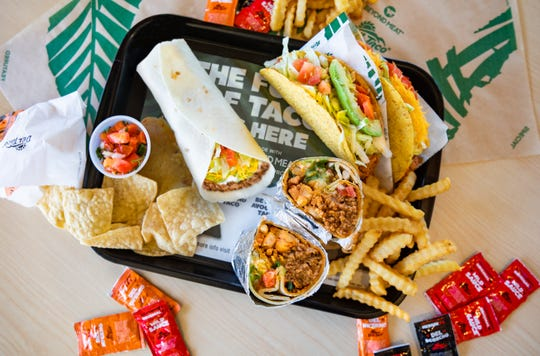 The Beyond 8 Layer Burrito and the Epic Beyond Cali Burrito.