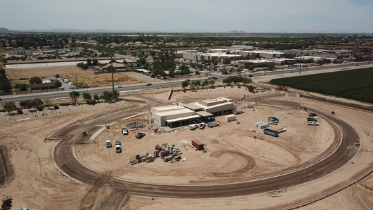 The construction site for the upcoming Gilbert Memorial Park cemetery and funeral home, set to open late summer 2019.