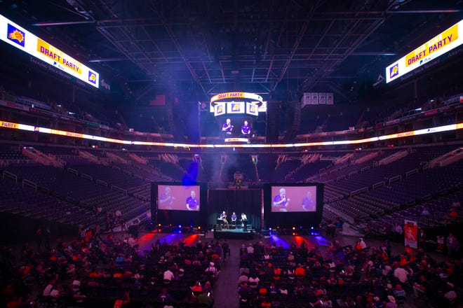Suns fans were a bit more subdued at the team's 2019 NBA draft party following the team's flurry of moves ahead of the draft.