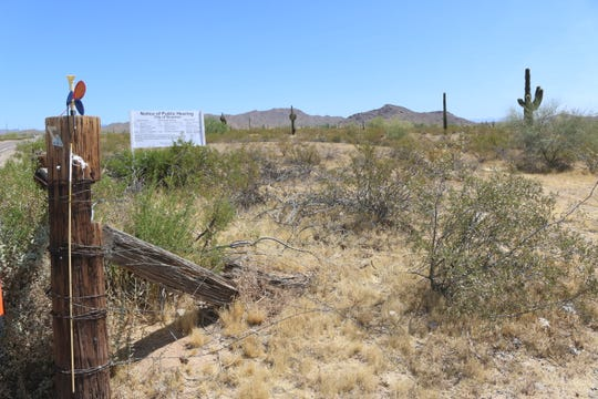 The vacant land that will eventually become Lone Mountain Ranch neighborhood along 163rd Avenue in Surprise.