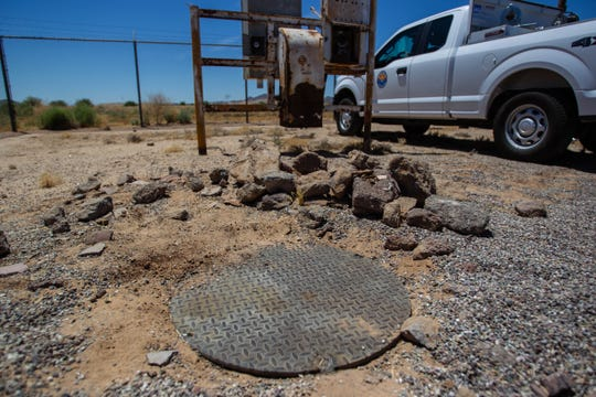 A covered well is pictured on June 18, 2019, in Maricopa. The Arizona Department of Water Resources has been seeking out abandoned wells to be covered for the public's safety.