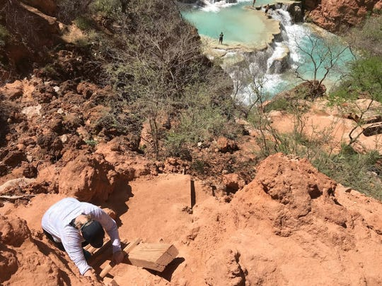 While not as steep or difficult as the descent to the base of Mooney Falls, the path to Beaver Falls is a bit tricky.