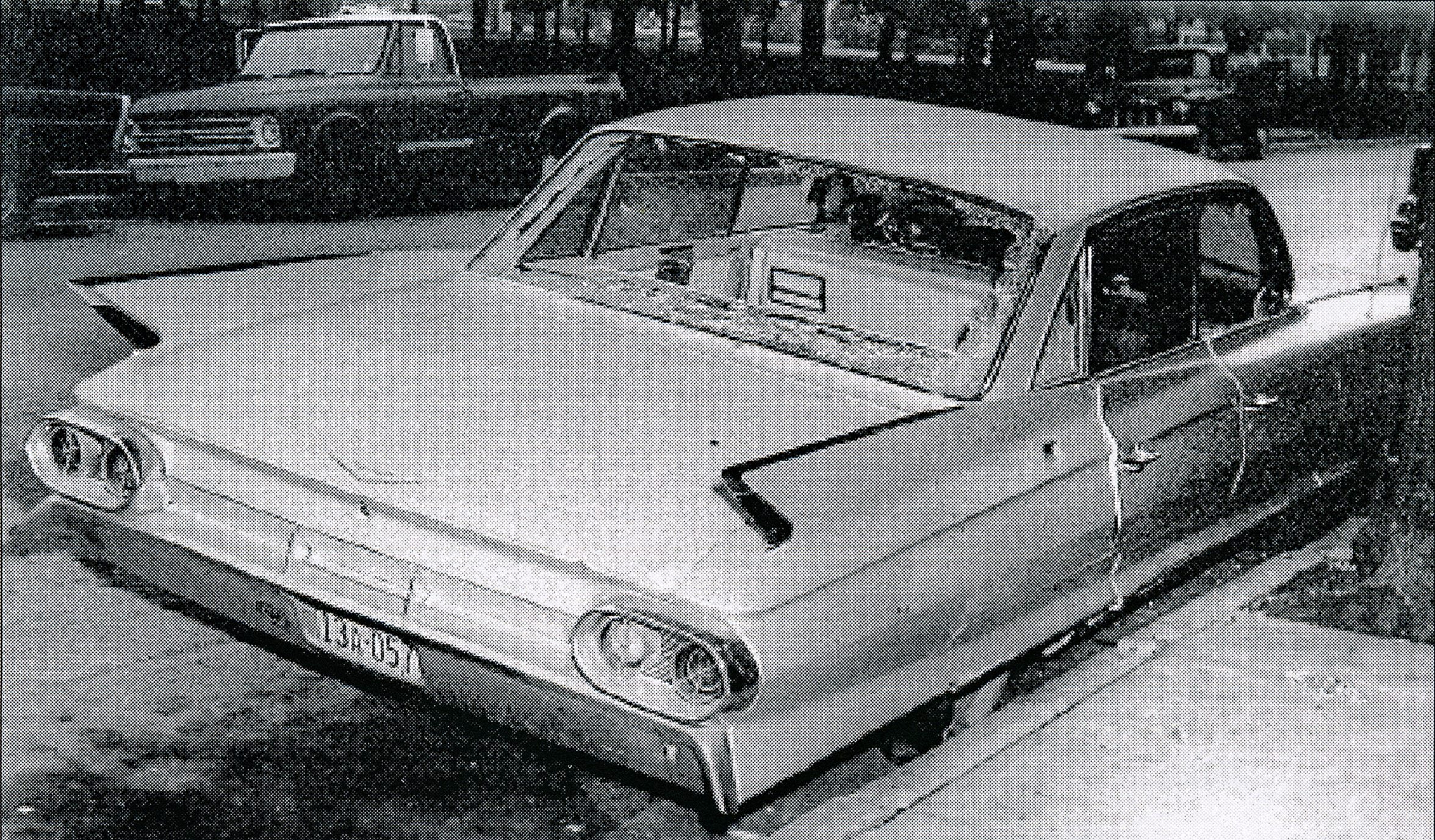Lillie Belle Allen was shot while standing outside of this car on North Newberry Street in York City, Monday, July 1, 1969.