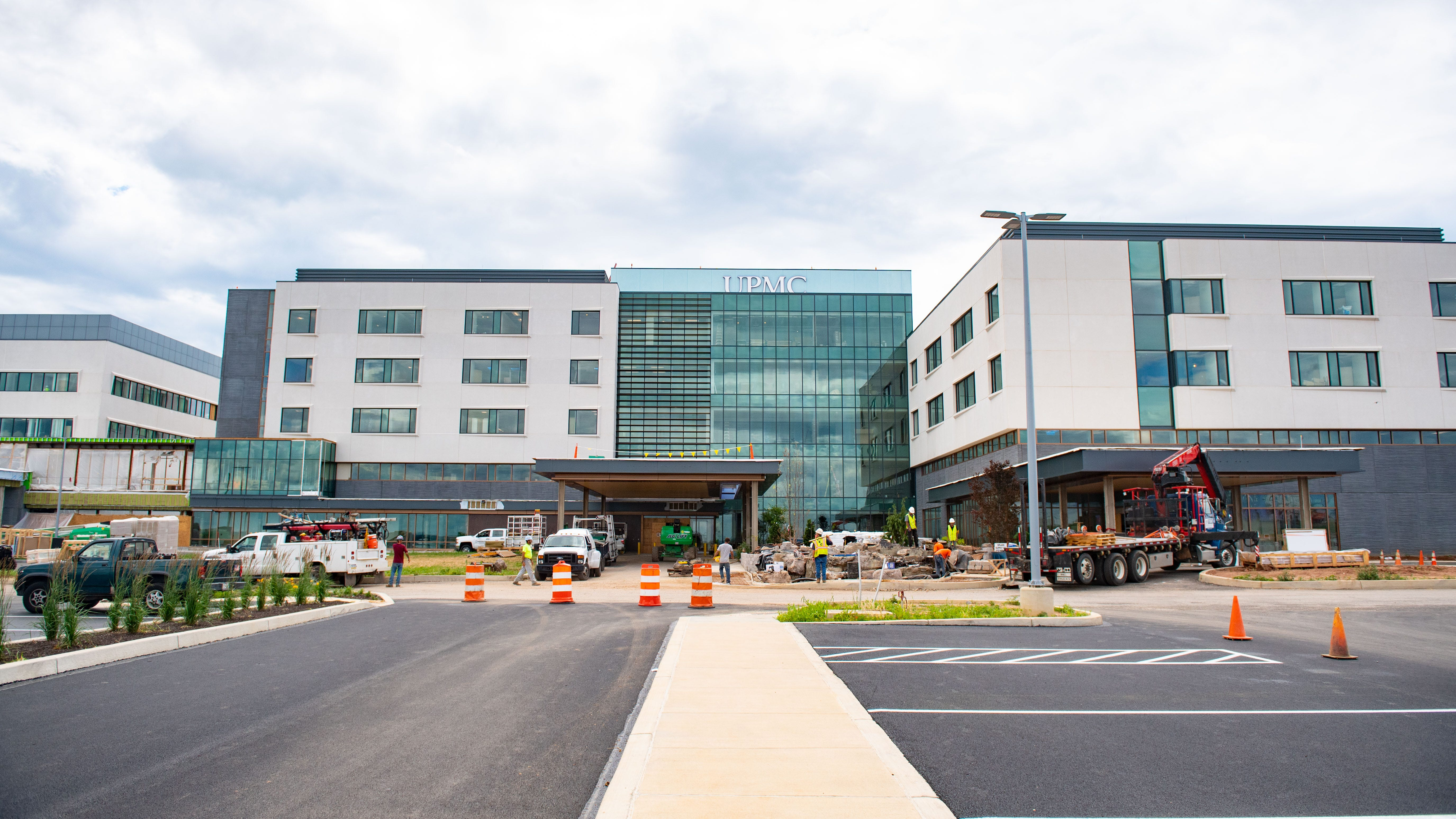 Watch: See how construction on the UPMC Pinnacle Memorial Hospital is going
